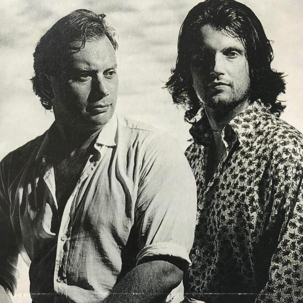 Dominic Sasse and myself at photo shoot for the publication of the Jousting Meadow, published by Forward back in the early 90s I think. I still miss the guy. Photo unearthed by his son Joshua @williamsieghart @neilmendoza