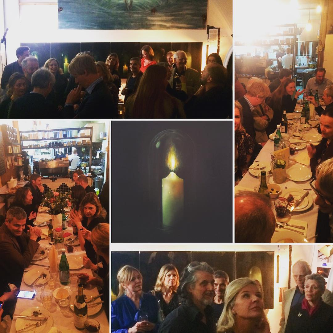 Was so pleased that everybody made it on the long trek to the Eastern Provinces. A great press evening at my studio and the truly astounding eatery around the corner after. @florafairbairn @bettinavonhase @albanyarts @fingerscrossedcafe