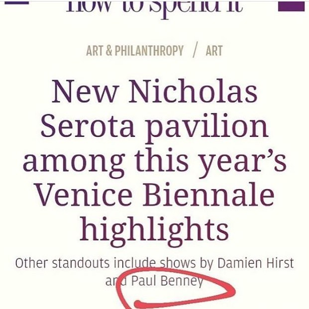 A little surprised to find my name included in this roster for the Venice Biennale. Thanks to Catherine Milner