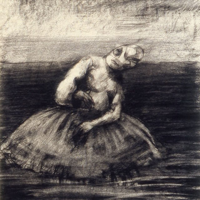 'Dancer'. Charcoal on Paper