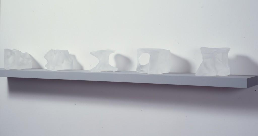 Equus II, 1996.  30 x 30 cm [11.8 x 11.8in]. Glass Sculpture.
