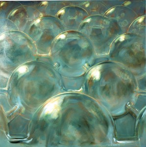Ether, 2001. 152 x 152 cm [59.8 x 59.8in].  Oil on Canvas. AIG Houston.