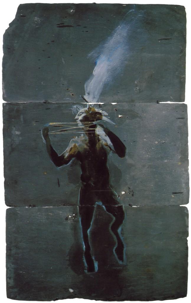 The Pantheist I, 1989. 132 x 81 cm [51.9 x 31.8in]. Oil on Slate.