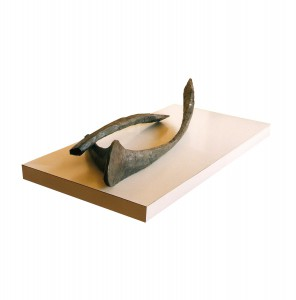 Wishbone I, 1992. 182 x 76 cm [71.6 x 29.9in]. Bronze.