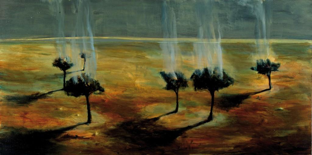 Witness Trees II, 1992. 137 x 91 cm [53.9 x 35.8in]. Oil on Panel.