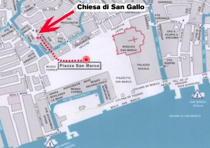 Map to S. Gallo from St Marks Square