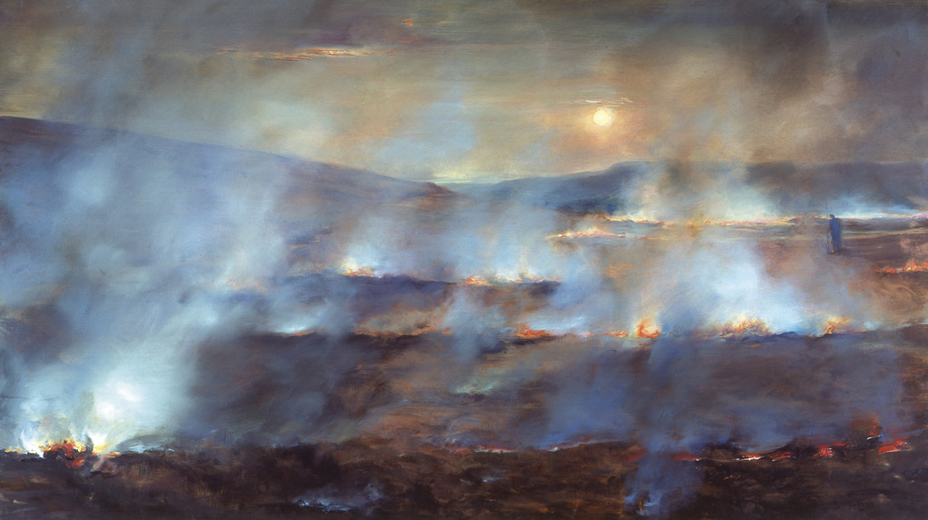 Burning Moore, 2005. 107 x 109 cm [41.7 x 42.9in]. Oil on Canvas.