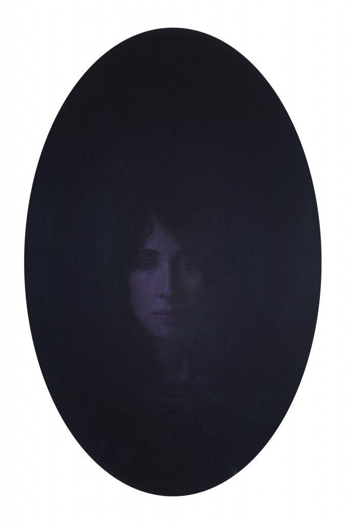 Scrying Mirrors- Renata, 2014. 26 x 18.5 in. [66 x 47 cm.] Oil on Board.