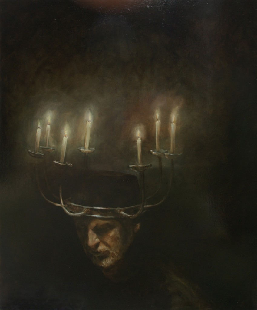 Deep Mining Project, 2012. 147 x 122 cm [57.8 x 48in]. Oil on Wood.