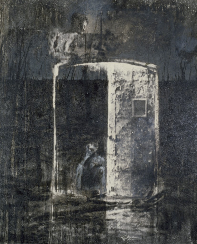 Exit at Gravey Stone, 1984. 152 x 122 cm [59.8 x 48in]. Oil on Photo-Sensitised Canvas.