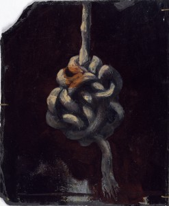 Gordian Knot, 1990. 61 x 30 cm [24 x 11.8in]. Oil on Slate.