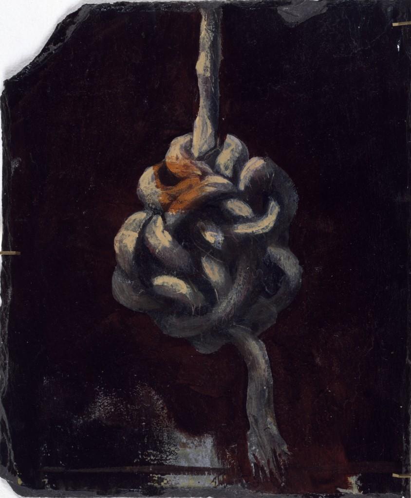 Gordian Knot, 1990. 61 x 30 cm [24 x 11.8in]. Oil on Slate.