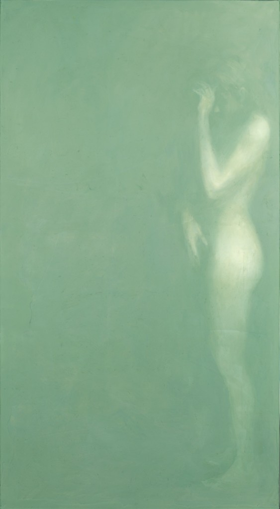 Her Ghost, 2011. 183 x 102 cm [72 x 40in]. Oil and Resin on Wood.