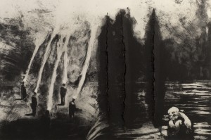 Heretic Healer, 1986. 88 x 107 cm [34.6 x 42in]. Etching.