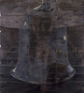 Heretic Healer,  1988. 193 x 152 cm [75.9 x 59.8in]. Oil and Encaustic on Slate.