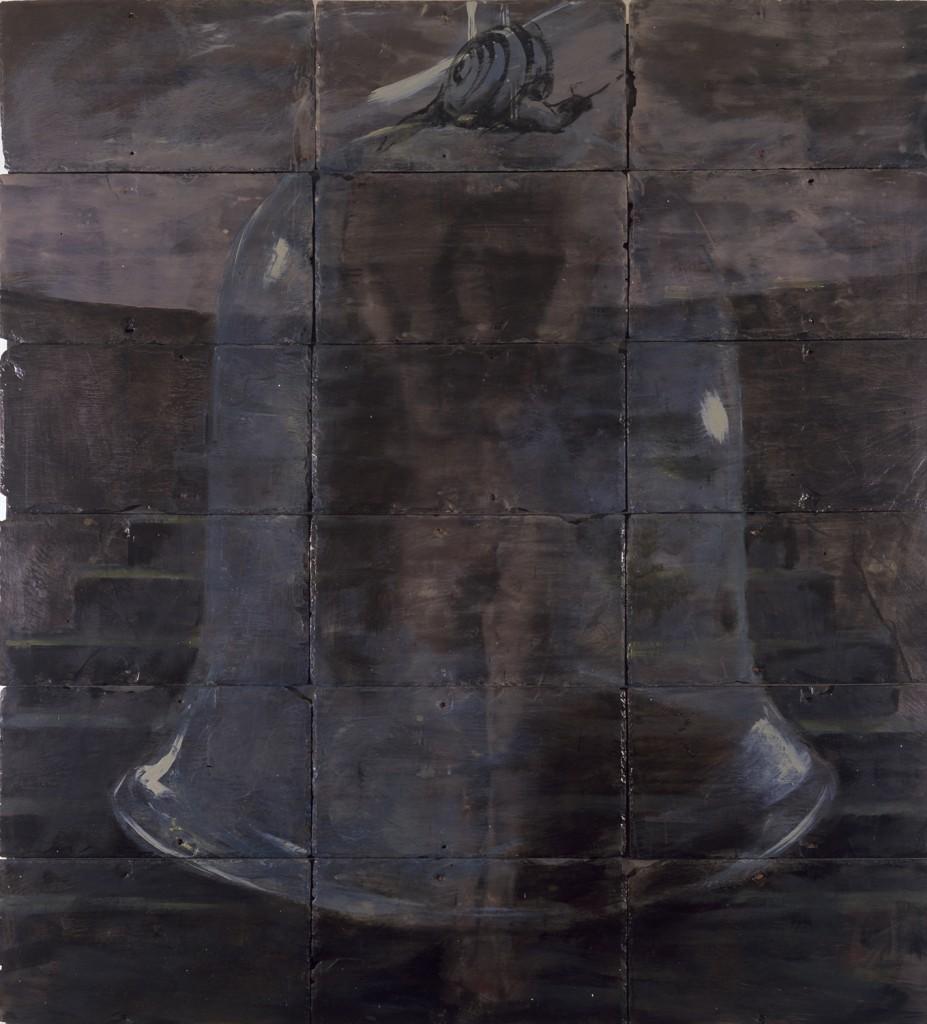 Heretic Healer,  1988. 193 x 152 cm [75.9 x 59.8in]. Oil and Encaustic on Slate.