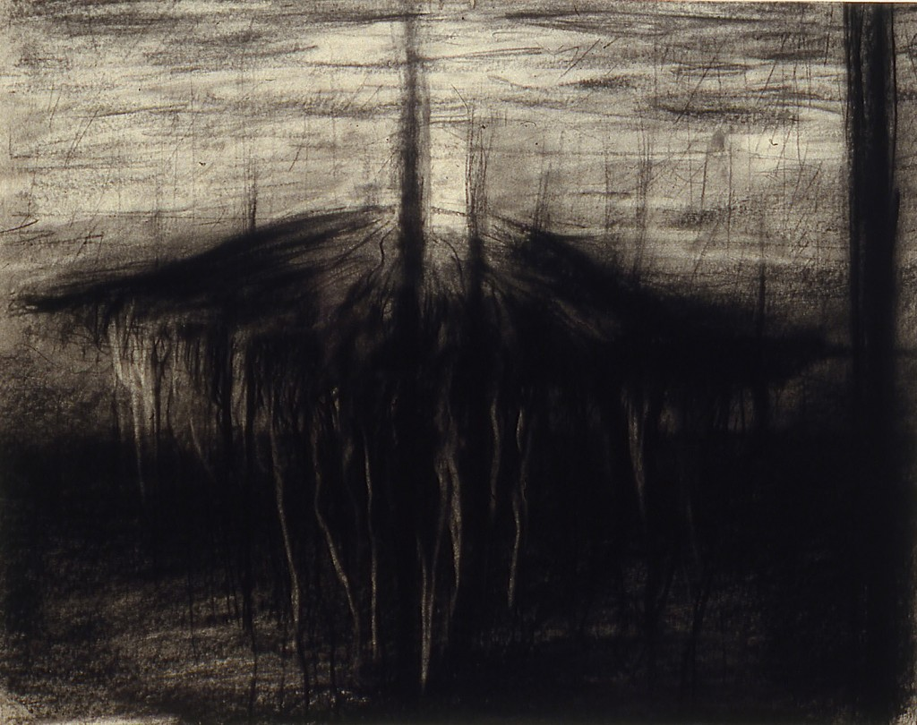 Jelly II, 1987. 20 x 28 cm [7.8 x 11in]. Charcoal on Paper.
