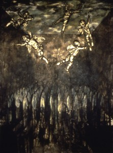 Levitation, 1988. 213 x 152 cm [83.8 x 59.8in]. Oil and Gold on Canvas.
