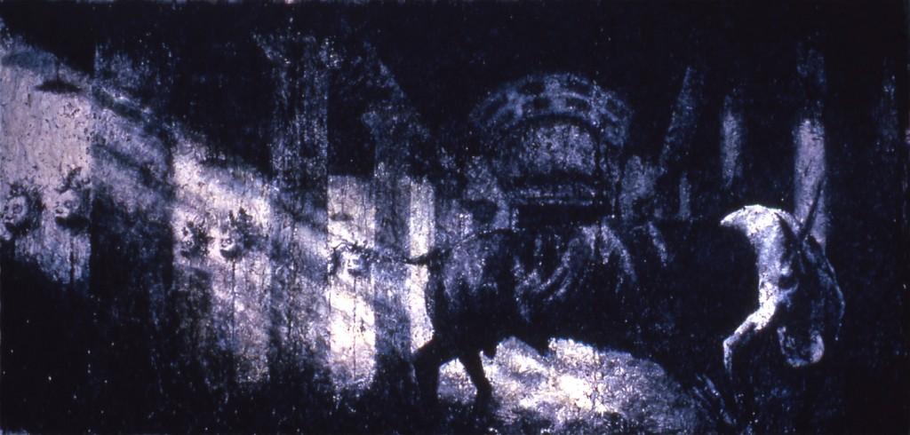 Minautaurus, 1995. 160 x 305 cm [62.9 x 120in]. Acrylic, Oil & Sticks.