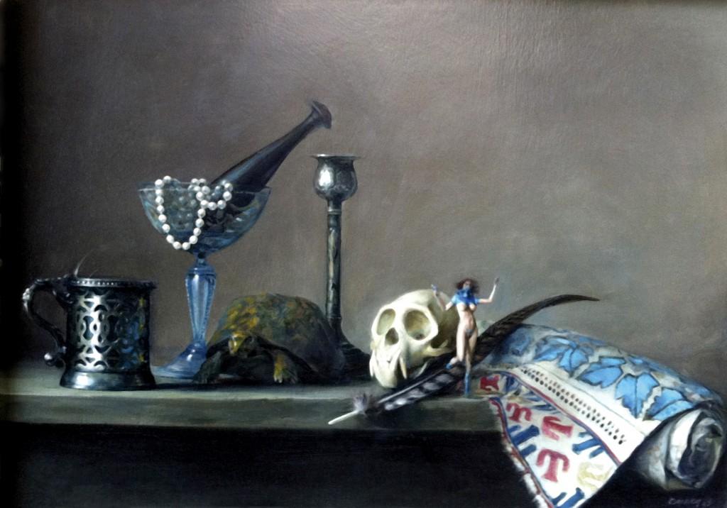 Nature Morte II, 2008.  66 x 81 cm [26 x 32 in]. Oil on canvas.