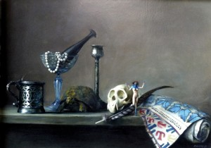 Nature Morte II, 2008.  66 x 81 cm [26 x 32 in]. Oil on canvas.