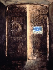 Portal, 1986. 213 x 152 cm [83.8 x 59.8in]. Metal on Canvas.