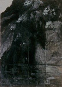 Salutation [Depth Charges], 1985. 178 x 127 cm [70 x 50in]. Oil on Canvas.