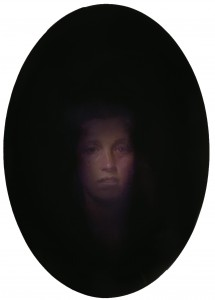 Scrying Mirror - Lucca, 2014. 26 x 18.5 in. [66 x 47 cm.] Oil on Board.