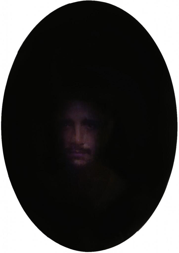 Scrying Mirror - Nicolas, 2014. 26 x 18.5 in. [66 x 47 cm.] Oil on Board.