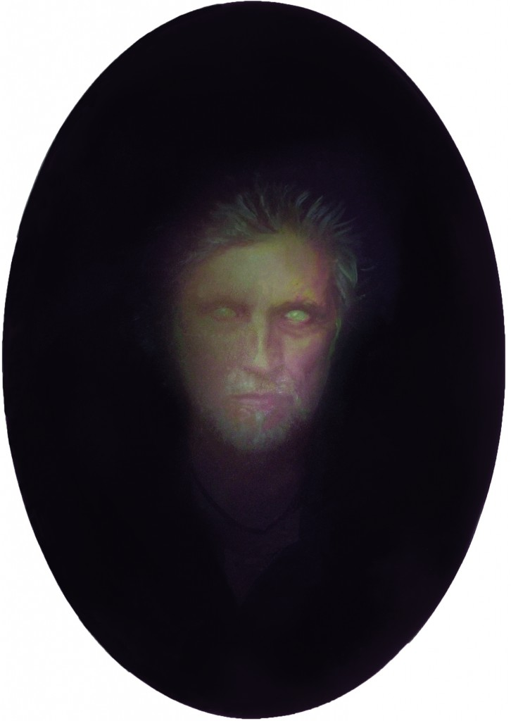 Scrying Mirror - Paul, 2016.  26 x 18.5 in. [66 x 47 cm.] Oil on Board.