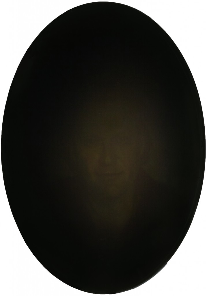 Scrying Mirror - Tom, 2016. 26 x 18.5 in. [66 x 47 cm.] Oil on Board.