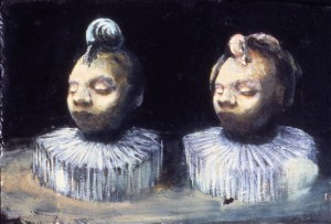 Souvenirs, 1987. 24 x 101 cm [9.4 x 39.7in]. Oil on Slate.