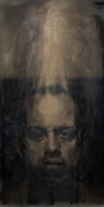 St. John, 2011. 122 x 61 cm [48 x 24in]. Oil and Resin on Wood.