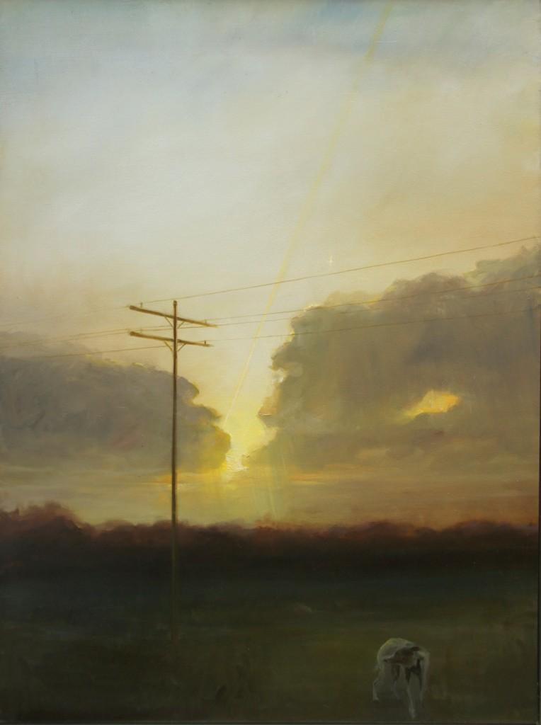 Telegraph, 2009. 91 x 122 cm [35.8 x 48in]. Oil on Canvas.