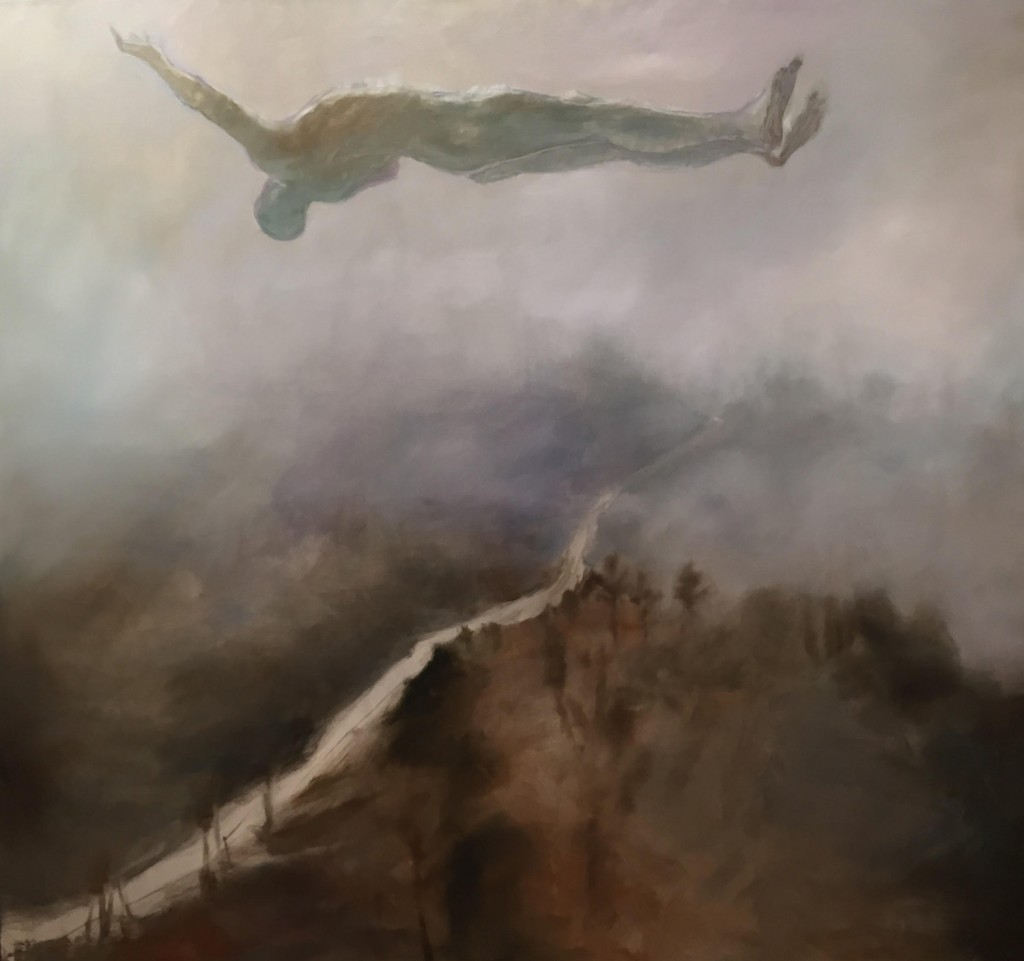 Tether, 2015. 181 x 167 cm [71 x 66 in]. Oil on Canvas.