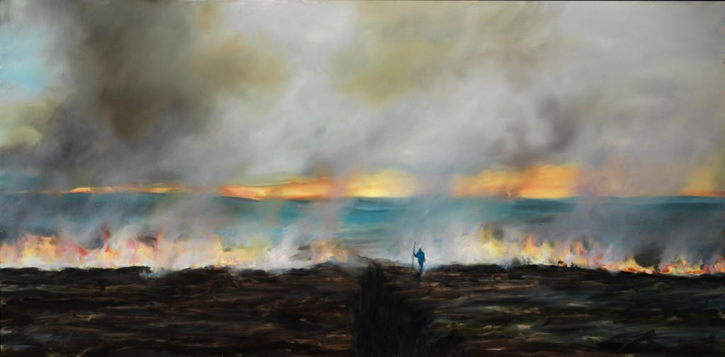 The Burning, 2012. 61 x 122 cm [24 x 48in]. Oil on Wood.