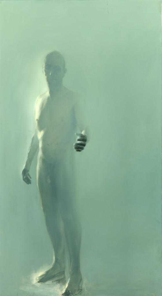 The Tenant, 2012. 183 x 102 cm [72 x 40in]. Oil and Resin on Wood.
