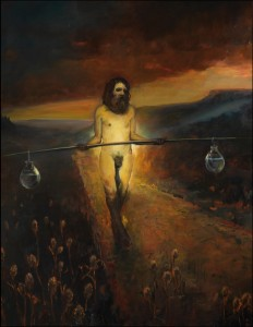 The Water Carrier, 2012. 174 x 143 cm [68.5 x 56.2in]. Oil on Canvas.