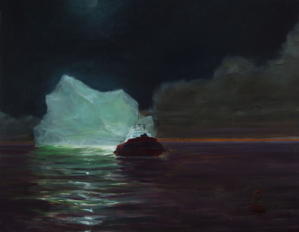 Tugged to its last berth to be broken, up, 2015. 96 x 122 cm [38 x 48in]. Oil on Canvas.