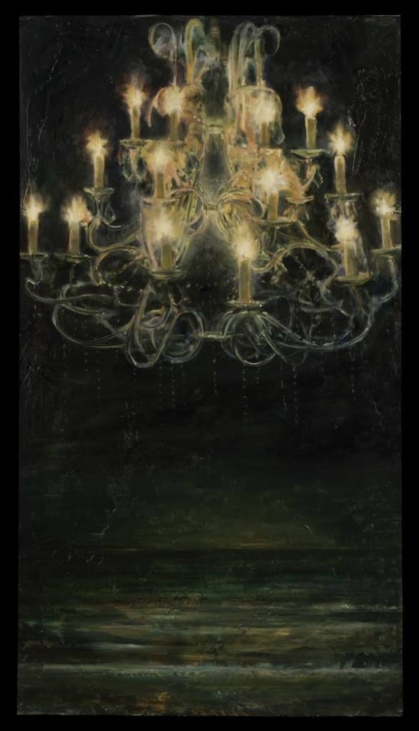 View from the Landing, 2010. 130 x 71 cm [51 x 27.9in]. Oil and Encaustic on Canvas.