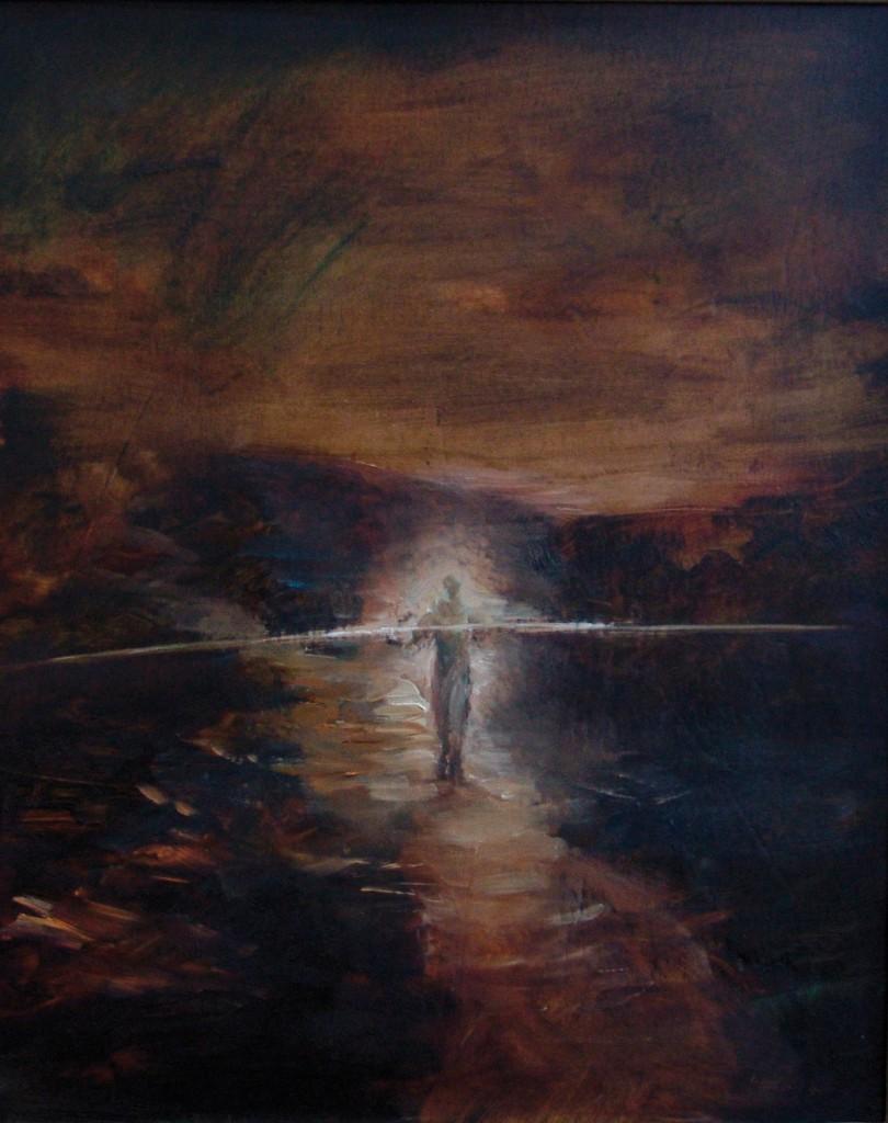 Walker, 2009. 56 x 41 cm [22 x 16in]. Oil on Wood.
