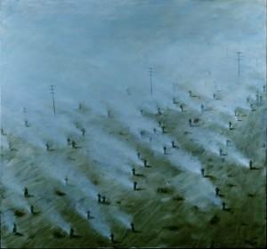 Walker, 2012. 182 x 168 cm [71.6 x 66in]. Oil on Canvas.
