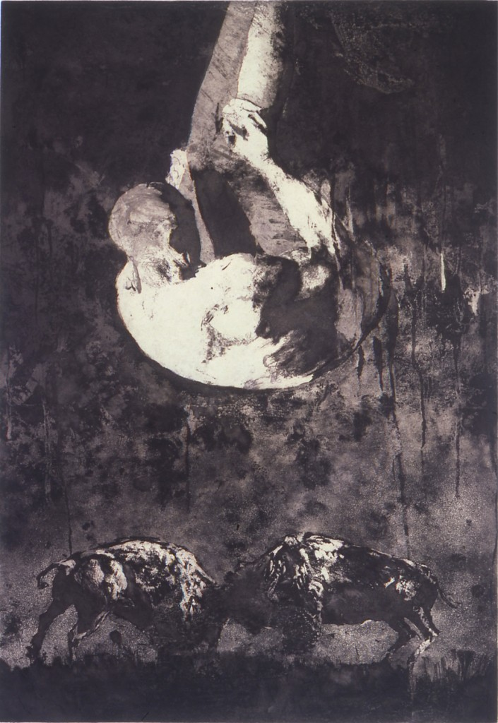 What Dark Is This II, 1986. 81 x 56 cm [31.8 x 22in]. Etching.