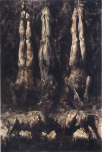 What Dark is This I, 1987. 198 x 127 cm [77.9 x 50in] . Oil and Sand on Canvas.